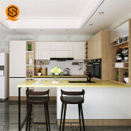 Customized polished low water absorption solid surface epoxy resin kitchen countertop
