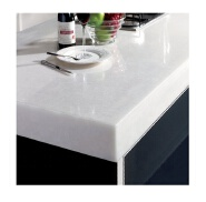 Stylish Custom pure White solid surface kitchen island top