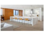 2019 modern marble white restaurant kitchen island bar design