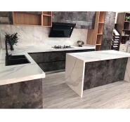 White kitchen island design kitchen cabinet countertop quartz