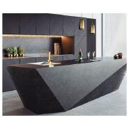 high end black kitchen island modern kitchen bench quartz stone artificial stone countertop