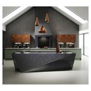 wholesale modern black kitchen island quartz stone kitchen countertop