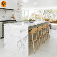 Top quality countertop easy to clean quartz stone kitchen counter for home decoration