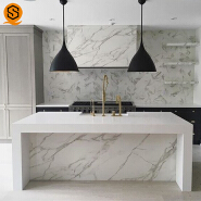 Luxury appearance acrylic solid surface counter top kitchen customized