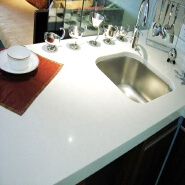 Solid surface kitchen counter tops corians marble countertop wash basin