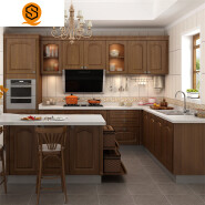 Hot sale esay to clean solid surface granite kitchen countertop
