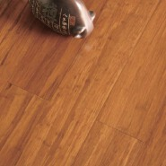 Indoor T&G Click System Carbonized Strand Woven Bamboo Flooring For Bedroom.