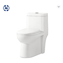 Modern western commode siphon flush toilet