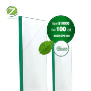 6mm Thick Clear Float Glass construction and building glass steel structure tempered glass curtain walls