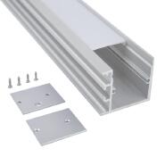 Aluminium oem Strip Led Profile For Glass, Surface Mounted Frame Light Bar Extrusion