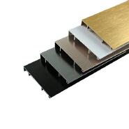 Customized 6063 Wall Protection Aluminum Polishing Skirting Board