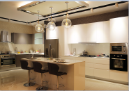China Manufacturer customized design Middle density fiber board high glossy lacquer Kitchen Cabinet YKL-Kitchen-Lacquer-001