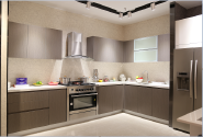 Opening Sale Samples Are Available Mordern Particle board Chipboard melamine YKL-Kitchen-MFC-004