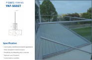 High quality U-channel glass railing with aluminium U channel and stainless steel handrail