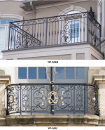 Hot-dip galvanized plus multi-layer powder coating and high quality iron balustrade with customized size