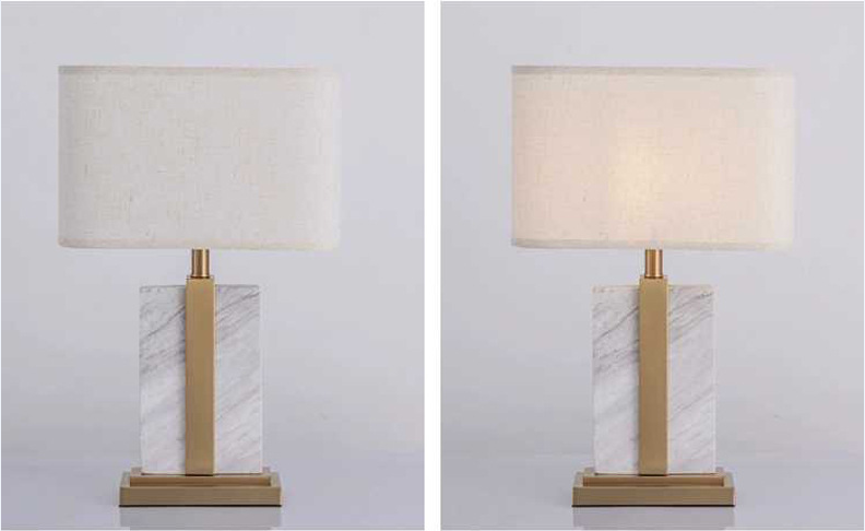 Opening Sale Samples Are Available Special Design Hand-made cloth lampshade desk lamps YLCK019