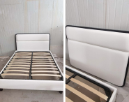 Best Seller Elegant Top Quality Personalized Design 3 star hotel bed skeleton frame bed box leather surface bedstead Bed03