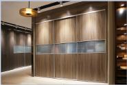 Best selling customized design modern wardrobe with melamine tempered glass YKL-Wardrobe-Aluminum sliding door-001