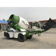 factory price 3.5cbm diesel engine mobile self loading volumetric cement concrete mixer for Sale