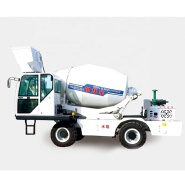 factory price 4cbm mobile auto feeding cement concrete mixer with air conditioning for sale in Italy