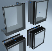 Best Selling Superior Quality Latest Design Unitized Curtain Wall YKL001