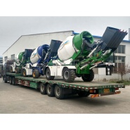 Luzun Self loading concrete mixer 3.5M3/cement mixer with 270 degree slewing drum for sale