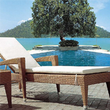 Durable luxury Hotel beach lounger near by swimming pool