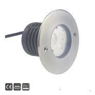 3x3w IP67 led inground floor uplight