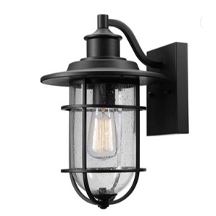 E26 E27 modern wall fixture Oil Rubbed Bronze Body Finish Clear Seeded Glass Exterior light Outdoor Wall Lantern