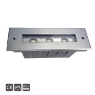 3x3w outdoor led wall recessed lamp for stairs