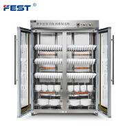 FEST Double Door Commercial Ozone Disinfection Cabinet, Tableware Disinfection Cabinet, Large Capacity Sterilizer Cabinet