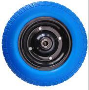 TURKEY Hot Wheel 13inch 3.50-7 pu foam flat free use for Wheelbarrow