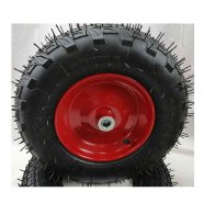 High Quality 16inch 4.00-8 inch Pneumatic Rubber Inflatable Wheels with steel rim