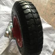 8 inch castor wheel fixed wheel pneumatic trolley wheel with welded metal rim 16mm bearing 2.50-4
