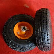 Heavy duty 10 Inch Small Pneumatic Rubber Wheel Barrow Wheel 4.10 / 3.50-4