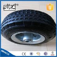 200mm wide small pneumatic rubber wheel barrow wheel