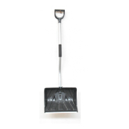Snow shovel with steel tube handle D grip