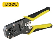 Upgraded Ratcheting Network Terminal Cutter Knife Plier Tool 3 in 1 Carbon Steel Ratchet Crimping Pliers Cable Wire Stripper
