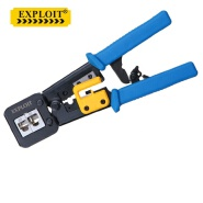 Carbon Steel Through Type Network Terminal Cutter Knife Crimp Plier Tool 3 in 1 Crimping Pliers Cable Wire Stripper