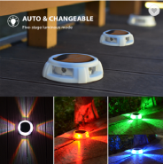 4 pack Waterproof Fountain Swimming Pool Sensor Outdoor in Ground Solar LED Light for Yard Lawn