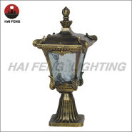 aluminum shell and glass cover classic table lamp for garden
