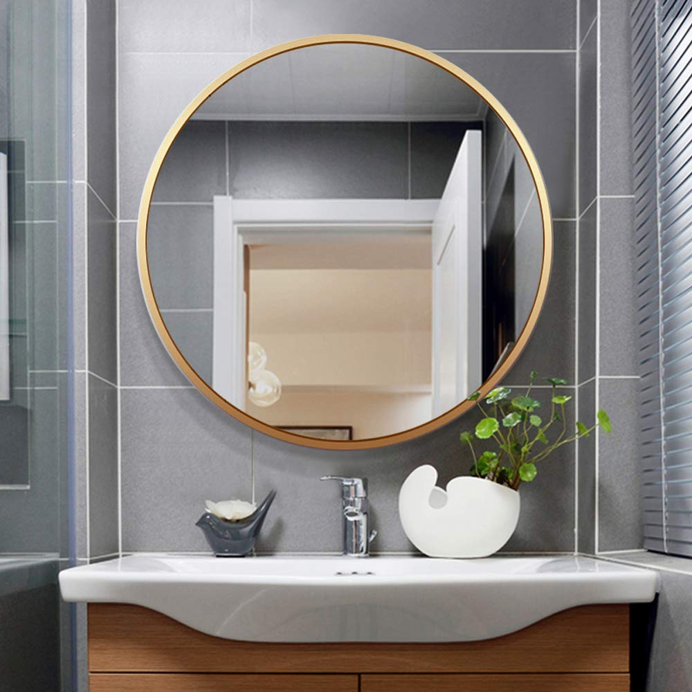 Large Modern And Simple Bathroom Wall Mounted Black Framed Mirror Horizontal Or Vertical Hangs On Buildmost