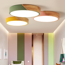 Hotel Livingroom Gallery Shop Iorn And Wood Material Ceiling Lamp