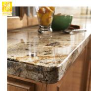 Luxury Pre-fabricated Granite Kitchen Countertop Island benchtop