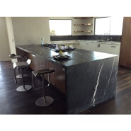 BTCAC015 Black Marquina marble worktop for man made