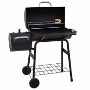 42cm BBQ Barrel Grill With Smoker