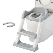 Baby Potty Training Seat with Ladder Pads ,Safe Potty Training Toilet for Kids Boys Girls with Double Side Handrail