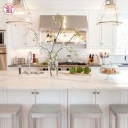 China modern white marble stone countertops kitchen prices