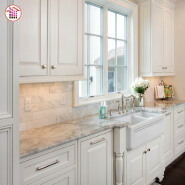 Design of marble countertops for kitchens in villas