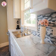 Beautiful home decoration Carara white marble countertops
